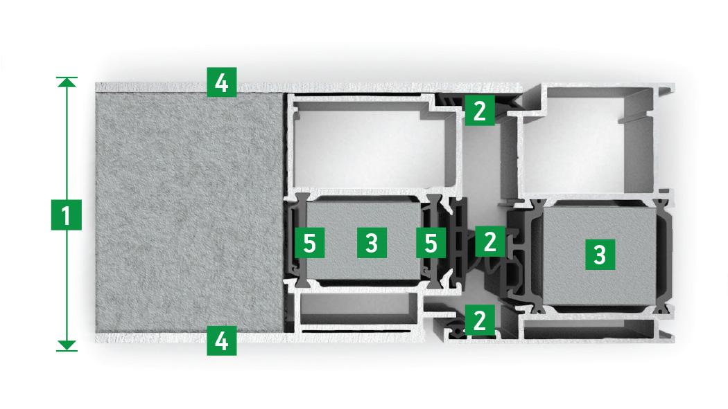 Alu Tür Supertherm ST.77 Infografik