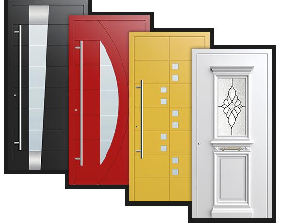 Alu Haustüren Beispiele