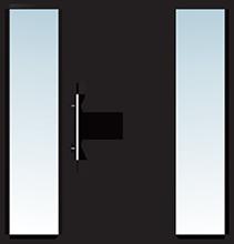 Aluminium Tür Varianten Typ 13