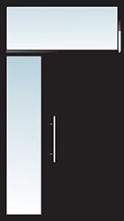 Aluminium Tür Varianten Typ 21