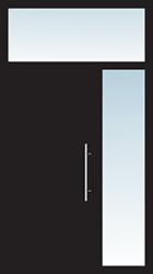 Aluminium Tür Varianten Typ 22