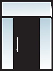 Aluminium Tür Varianten Typ 23